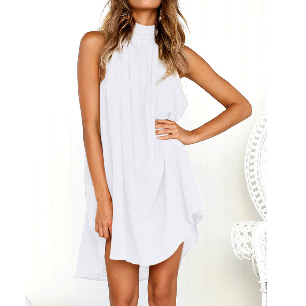 KANCOOLD dress fashion Womens Holiday Irregular Dress Ladies Summer Beach Bohe Sleeveless Party dress women 2018jul19