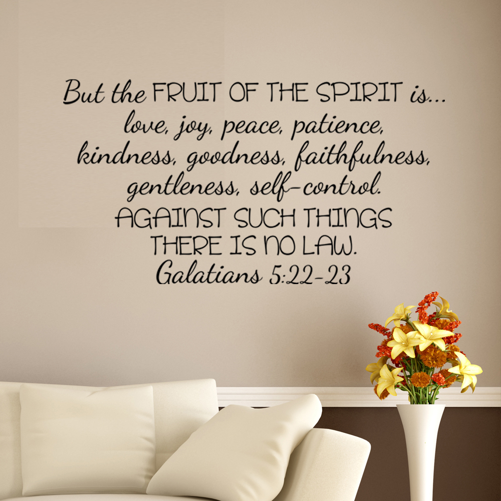 galatians 522 23 bible verse wall decal scripture art sticker 457cm x 864cm from reliable bible verse wall decals suppliers on shop1424253 store