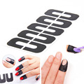 50 Pcs Manicure Tool Anti Overflow Stick Armor Type U Oil Spill Protector Nail Stickers Tools 5 Colors options DIY Nail Art Tips