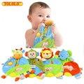 Baby Toys Soft Полотенце Платок Жираф Слон Лев Прорезыватель Комфорт Успокоить Playmate Плюшевые Погремушки Игрушки Для Новорожденных Младенцев