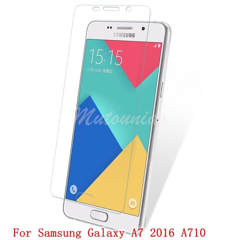 Mutouniao 3 шт. для Samsung Galaxy <font><b>A7</b></font> 2016 A710 9 H Премиум закаленное Стекло Экран протектор против царапин Плёнки для Samsung <font><b>A7</b></font> 2016