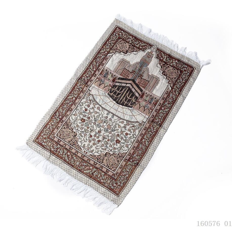 Image 2 - Cotton Yarn Muslim Prayer Rug Grey Rug for Living Room Kitchen  Rug Rectangle Small Carpet Indian Rugs Tassel Outdoor Tiles MatIslamic  Clothing