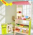 Venda quente brinquedo educacional de madeira de supermercado play casa fruta vegetal corte 1 conjunto