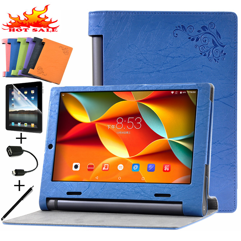 Leather Stand Flip Case For Lenovo YOGA Tab 3 YT3-X50F YT3-X50L YT3-X50M X50L X50F X50M Cover Protective Cases Tablet Shell Skin