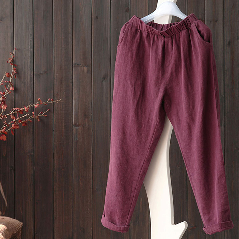 Cotton And Linen Female Pants Summer Loose Casual Pants Women Long Pants Fashion Harem Pant