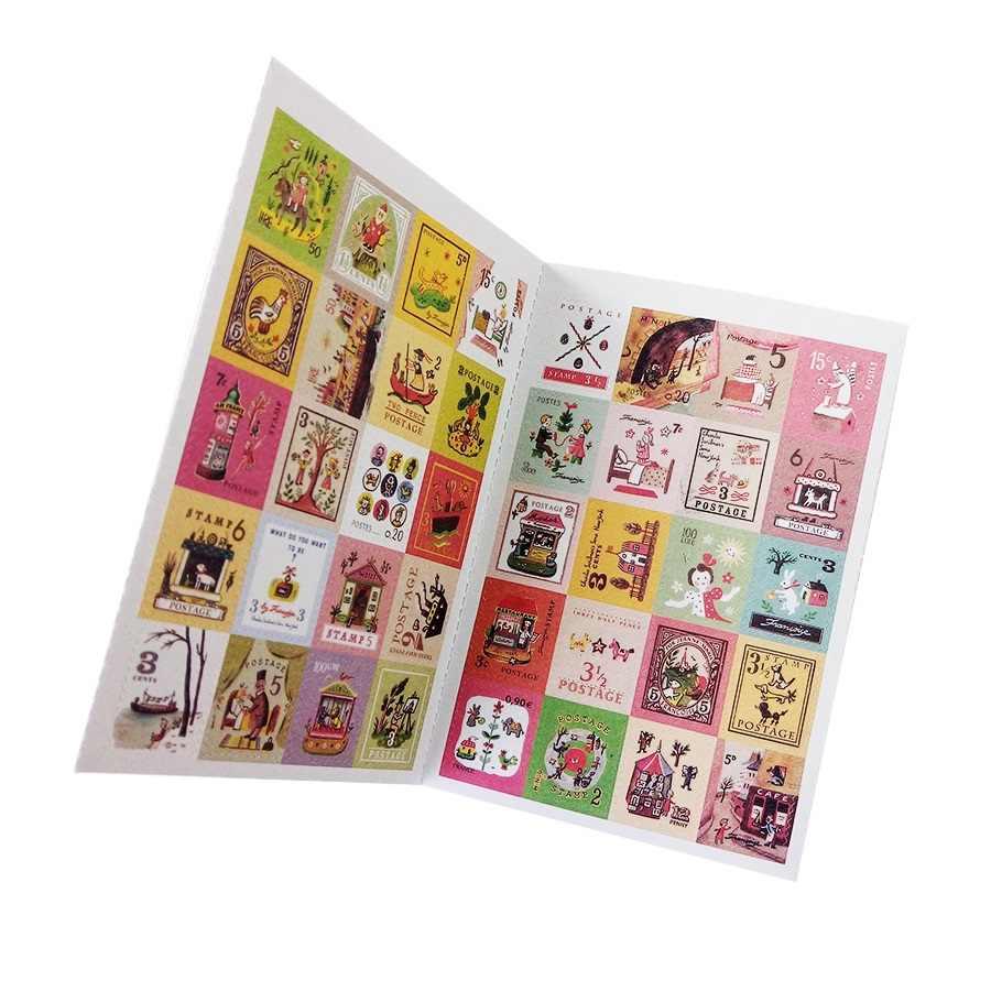 4 feuilles/lot dessin animé timbre scrapbooking autocollants Alice britannique mémoire Paris petit Prince décoration journal autocollant