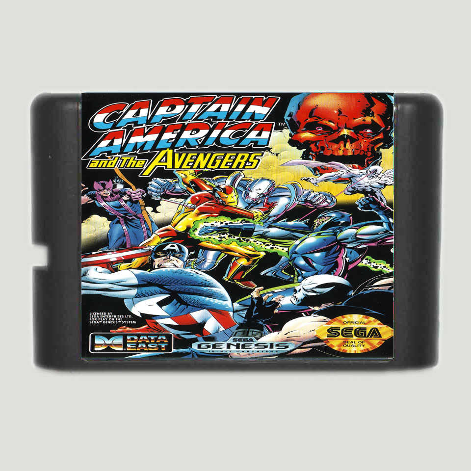 Captain America And The Avengers 16 bit MD Game Card For Sega Mega Drive For Genesis