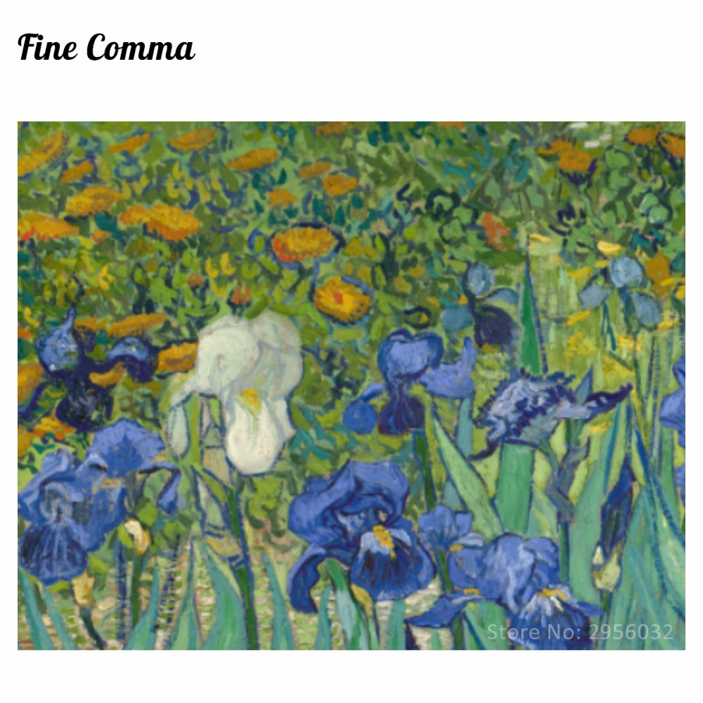 Irises Irises Iris 1889 by Vincent van Gogh Қолмен - Үйдің декоры - фото 2