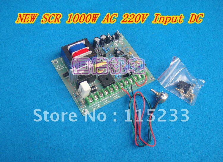 Shop Promotions NEW SCR 1000W AC 220V Input DC Motor Driver Adjuster Controller Speed Governor new hot 12100 f dc 10v 50v 0 01 5000w 100a programmable reversible dc motor speed controller governor soft start foot pedal