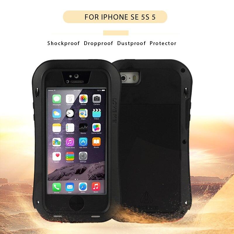 bilder für LIEBE MEI für iPhone5 SE 5 s 5 Leistungsfähige Telefon Fall Dropproof vollen Schutz Hybrid Fällen Smarphone Abdeckung Shell für Apple i5s i5