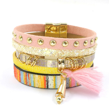 Layered-Multi-Texture-Leather-Charm-Bracelets-with-a-Bohemian-Flare-5