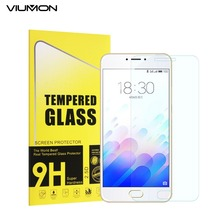 VIUMON M3 Word New Premium Tempered Glass for Meizu M3 Word Display screen Protector Oil Proof 9H 2.5D Entrance Telephone Glass Movie