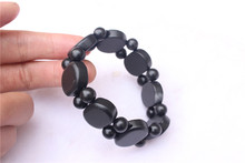 Natural Bianshi stone bracelet Stone oval bracelet(China)