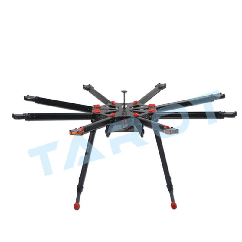Tarot X8 Carbon Fiber Frame Kit Octocopter Frame Parts Set Diy Drone Accessories Octocopter X8 Multicopter Big Rc Drones Grandes tarot x8 8 aixs umbrella type folding frame kit multicopter uav octocopter drone tl8x000 with retractable landing gear