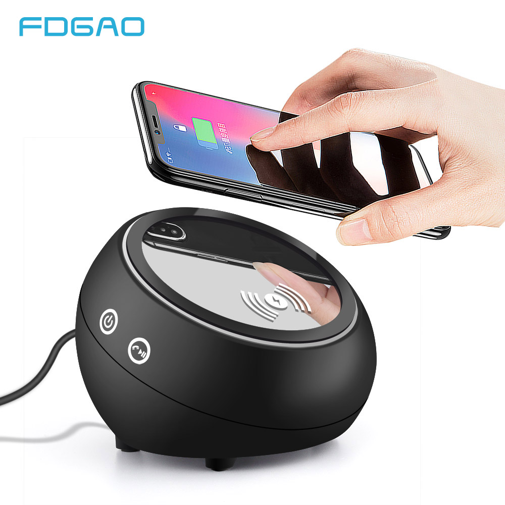 Fdgao Bluetooth Speaker Qi Wireless Charger For Iphone Xs Max Xr X 8 Fast Wireless Charging Pad For Samsung Note 9 8 S9 S8 Plus Mobile Phone Chargers Aliexpress