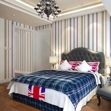 цена на modern minimalist liquid for kid striped wallpaper papel de parede roll wall paper for living room bedroom sofa backround