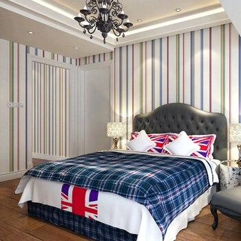 Wellyu современный минималистский жидкий для детей полосатый обои papel де parede рулон обоев для спальни диван задний круг