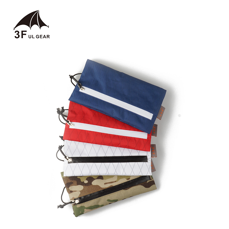 3F UL Gear Sparrow Small Storage Bag X-PAC Fabric Portable Waterproof Bag Ultralight Double Side Zipper Camping Hiking