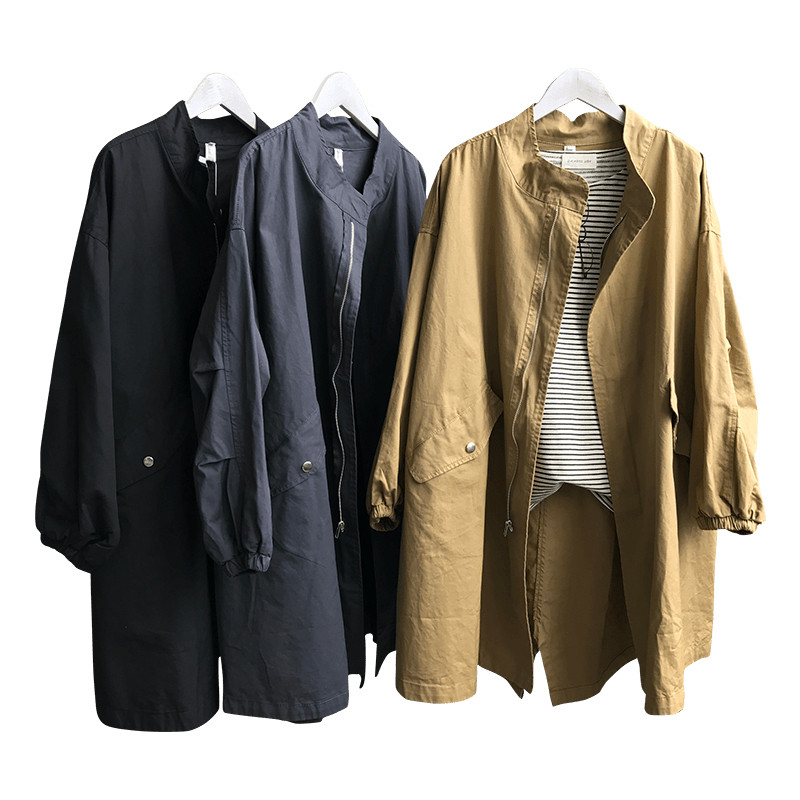 BF Style Women   Trench   Coat Long Outwear Drawstring   Trench   Coat For Women Manteau Femme Hiver Windbreaker Female Overcoat C4059