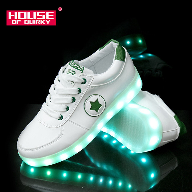 2019 New Women Flat Breathable Light Up Shoes Girls USB Recharge Glowing  Sneakers Boys Led Luminous Shoes Female Flat shoes d2b562b51