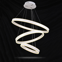 Indoor Chandeliers White Pendant Lamp Modern LED Ring Chandelier Painting Aluminum Shell Interior Decoration Home Lamp