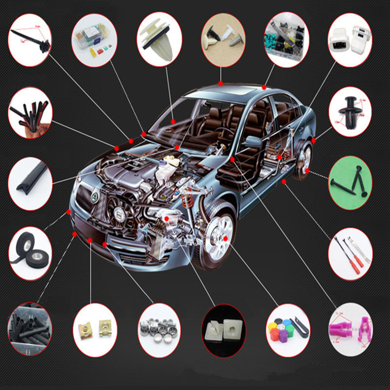 Image 2 - 100pcs Car Universal Mixed Clips for Opel Astra H G Corsa Insignia Astra Antara Meriva Zafira Car Styling-in Car Tax Disc Holders from Automobiles & Motorcycles