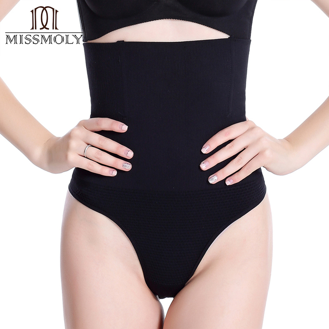 982dbf6e56e Miss Moly Women Sexy Thong Tummy Control Slimming Panties High Waist  Trainer Seamless Shapewear Girdle Bodysuit Body Shaper