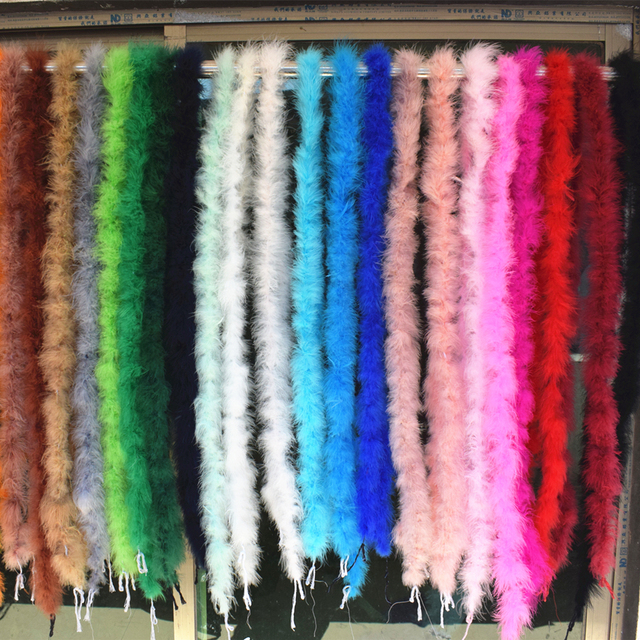 Beautiful 2 m / Various colors of natural turkey feather boa / slim evening dress / clothing / shawl / cosplay 1