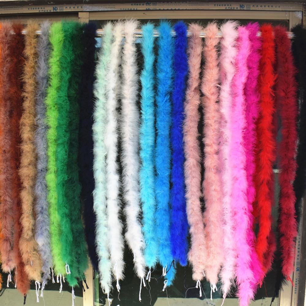 Красивые 2 м/Различные цвета натурального боа из пера индейки/тонкий вечернее платье/одежда/шаль/Косплей