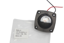 Tekne Yat navigasyon ışığı Beyaz Mavi LED iç lamba Siyah Kabuk Plastik Lamba 12 V DC