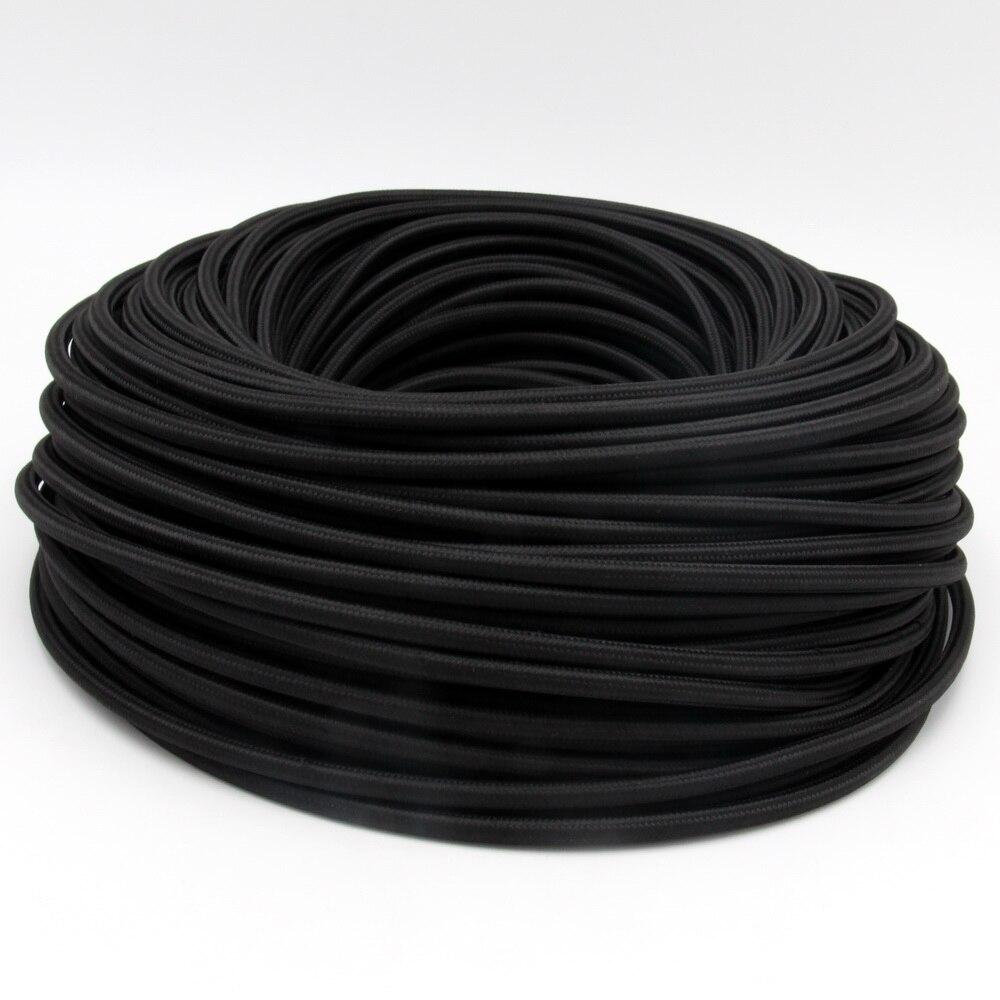 3 noyaux 0.75mm2 câble en tissu textile souple cordon bricolage vintage pendentif lumière fil électrique