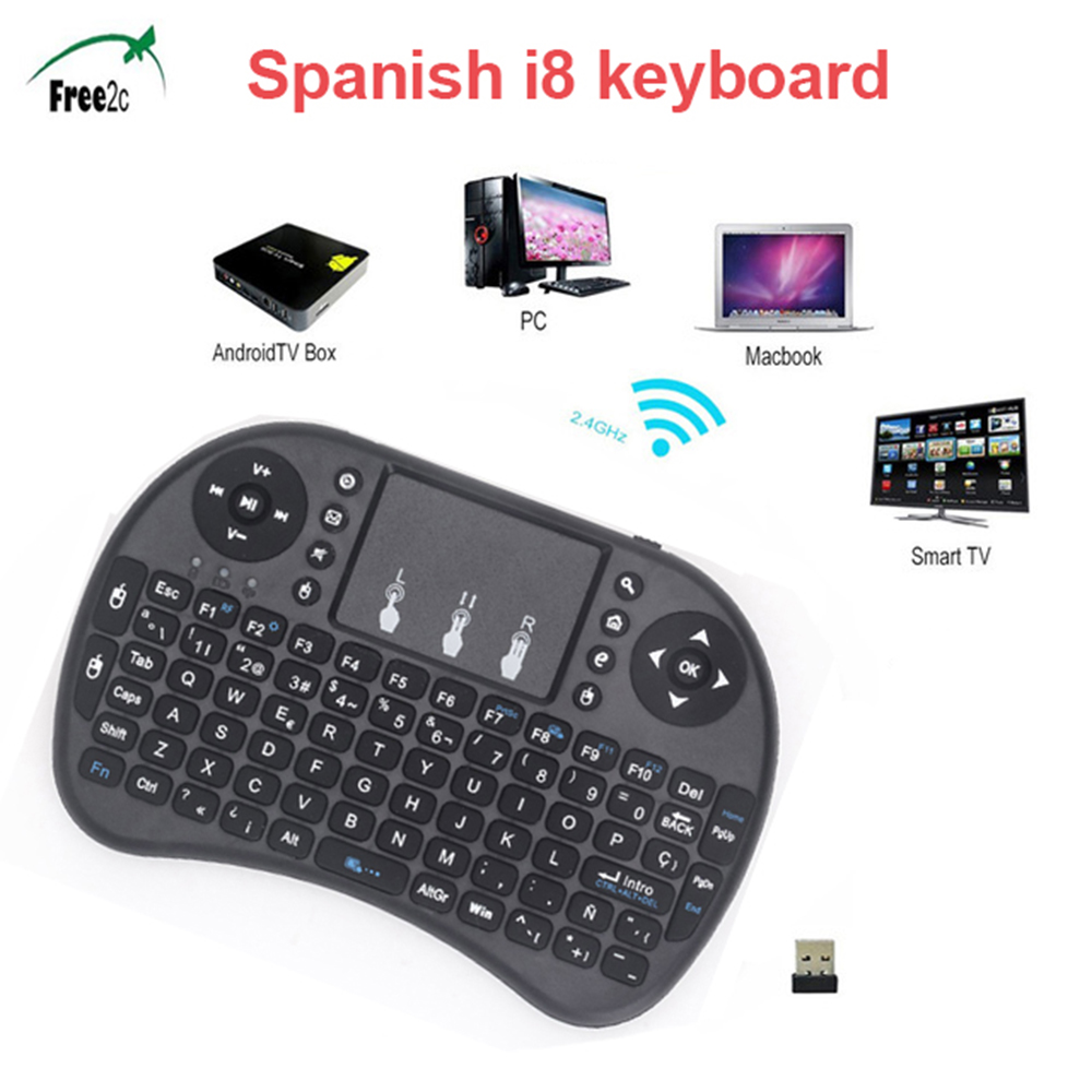 Hot selling i8 Spainish 2.4GHz Wireless Keyboard Air Mouse