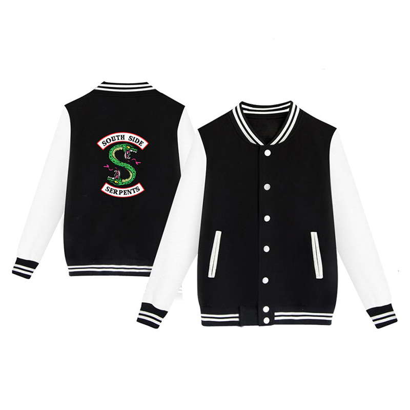 Winter Jacket American TV Riverdale Women Fashion Jacket South Side Mens Fans Casual Baseball Jacket