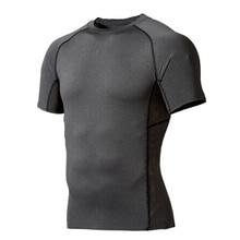 Мужская компрессионная одежда Под базовым слоем Топы плотные спортивные футболки с короткими рукавами Новое поступление