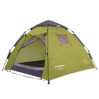 KingCamp Pop Up Tent 3 Persons 3 Seasons Double Multipurpose Quick up Breathable Durable Camping Tent Outdoor with Door Awning