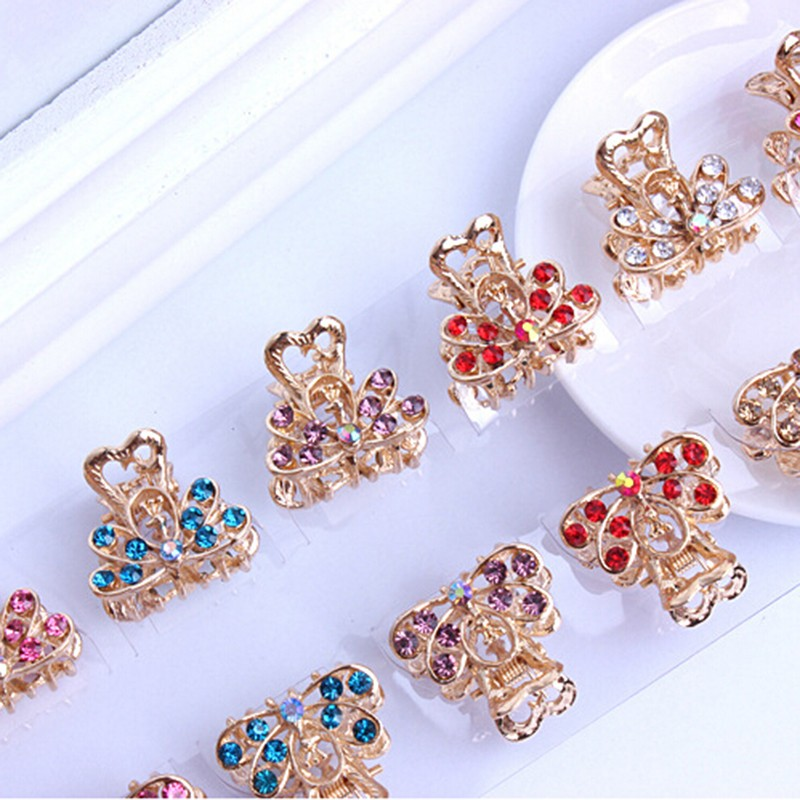 1pc Fashion Women hair accessories hairpins Crab Retro Mini Butterfly hair claw clip Headband for Lady Girls 2018 Hot Sale