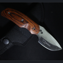 HIGHT QUALITY Buck OEM 076 Folding Blade OUTDOOR Knife Wood Handle Tactical Hunting Camping survival Knife 58HRC