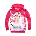 Girls spring elsa jacket snow queen elsa anna Costume Hoodies Outerwear Cotton Coats Kids topolino children's jackets clothing