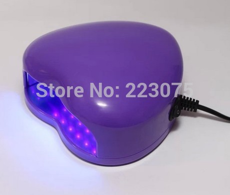 New 110v or 220v LED Lamp Soak-off Gel Polish Nail Cure UV Dryer Heart-shaped 3W Manicure Machine purple концентрат divage bb nail cure nail polish gel remuver 120 мл