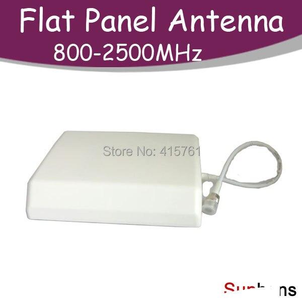 2014 High gain 10dBi 800-2500MHz broadband Flat Panel Antenna GSM CDMA WCDMA Booster Repeater Amplifier - Meenoo Mi's store