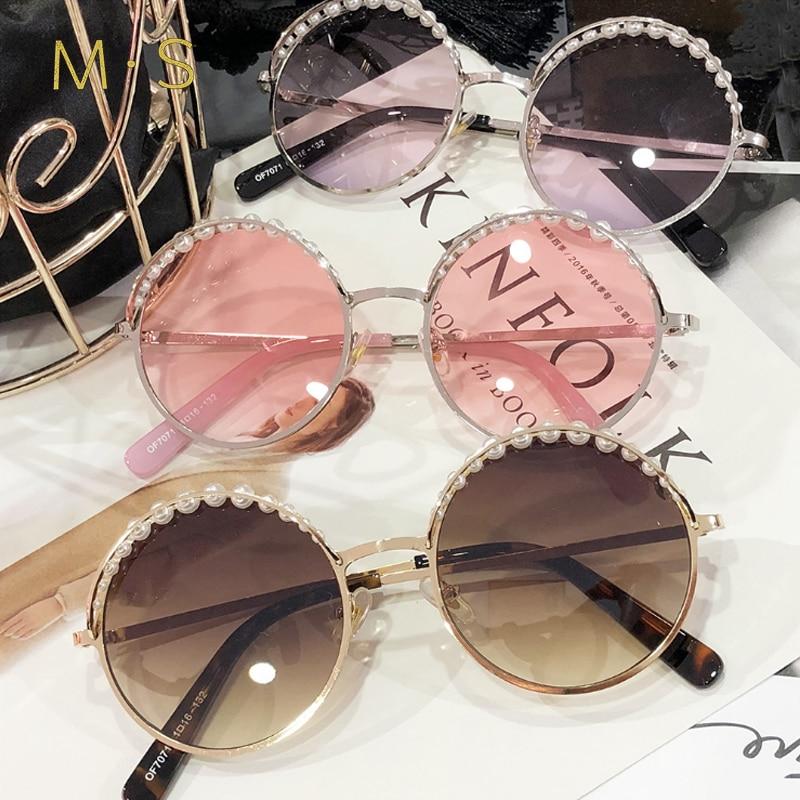 MS 2018 Women Luxury Decoration Classic Eyewear Female Sunglasses Original Brand Designer Sunglasses Sun Glasses Fashion UV400
