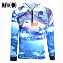 2019 New arrival Outdoor sportswear hooded Fishing shirt Anti-UV protection Hiking Fishing clothes sports apparel Anti-mosquito