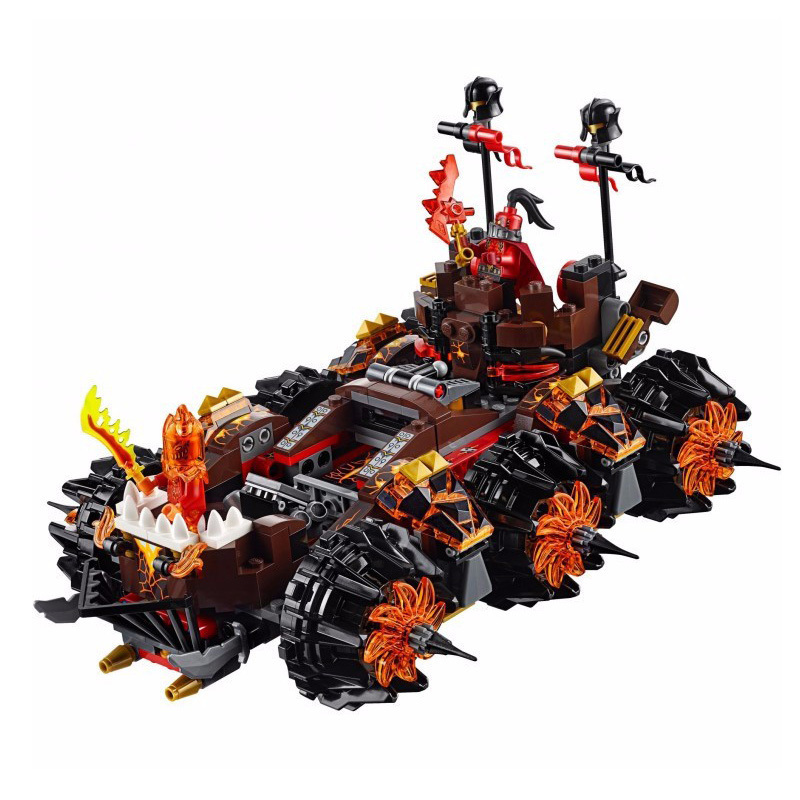 8017 Nexus Knights Siege Machine Model 10518 General Magmar's Siege Machine of Doom Building Blocks toys for children 14018 lepin 14018 8017 nexus knights siege machine model building kits compatible with lego city 3d blocks educational children toys