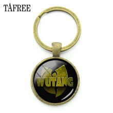 TAFREE WU TANG CLAN Keychains New York HIP-HOP Rap Band Key Chains Key Rings Antique Bronze Plated Music Fans Jewelry Gifts WT07(China)