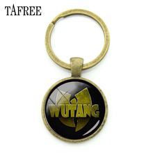 TAFREE WU TANG CLAN Keychains New York HIP-HOP Rap Band Key Chains Key Rings Antique Bronze Plated Music Fans Jewelry Gifts WT07