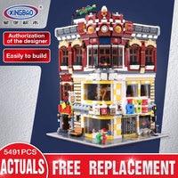 XingBao 01006 Творческий город МОС серии игрушки и книжный магазин набор совместим с LegoING детей строительные блоки кирпичи игрушка