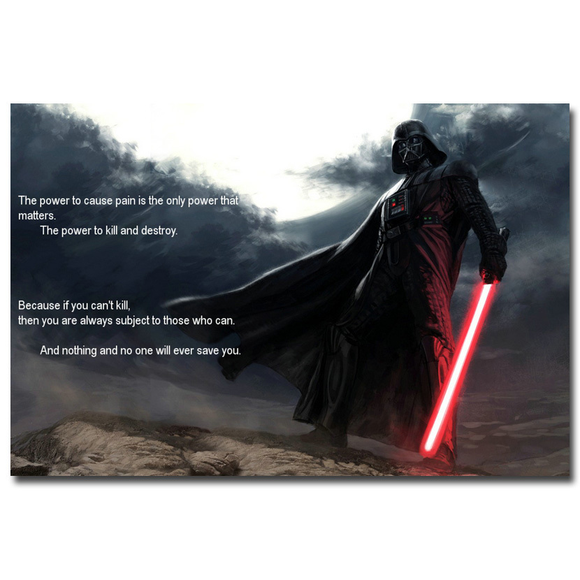 Darth Vader Quotes Star Wars 7 The Force Awakens Movie Art ...