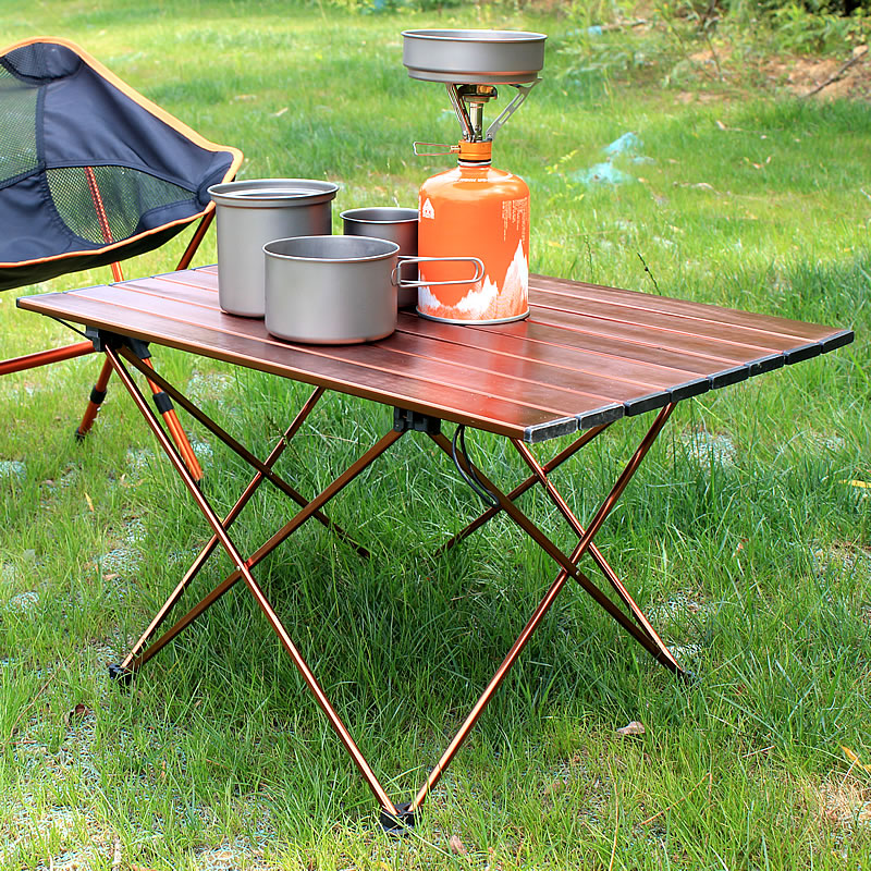 Portable Light Aluminum Alloy Camping Table, Card Game Barbecue Table, Mesa Plegable