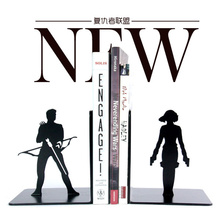 A Pair Creative The Avengers Metal Bookend Shelf Bookend Holder Office Supplies  Home Decoration Book Stand