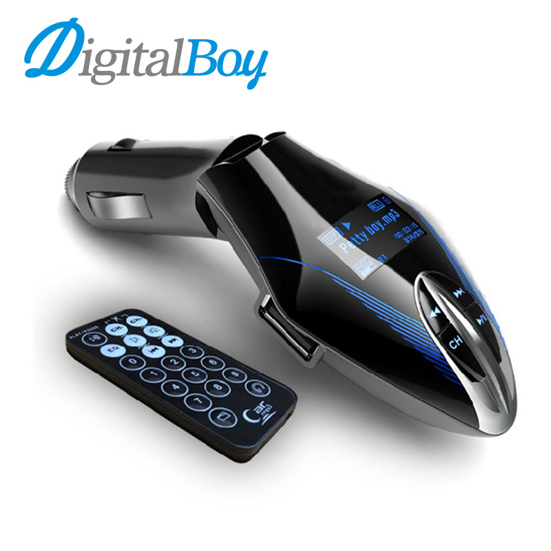 Digitalboy 12V Wireless FM Transmitter Car Mp3 Player LCD Screen Audio MP3 Music Player FM Modulator